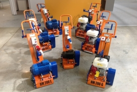 Аренда, прокат профессиональных роторно-фрезеровальных и демаркировочных машин для бетонных полов