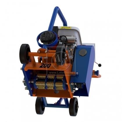 Демаркировочная машина для снятия асфальта, дорожной разметки и бетонного покрытия, с электростартером (с барабаном) LATOKHO DM 200 GE (Россия)