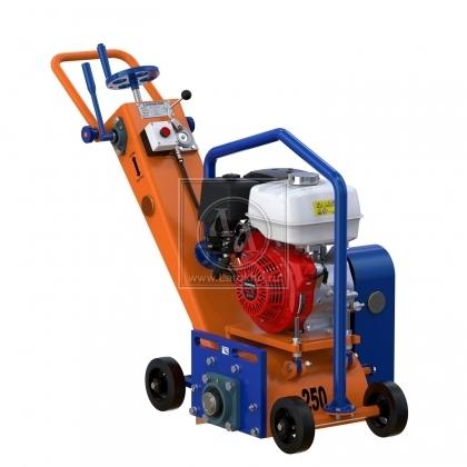 Демаркировочная машина для снятия асфальта, дорожной разметки и бетонного покрытия (с барабаном) LATOKHO DM 250 G (Россия)