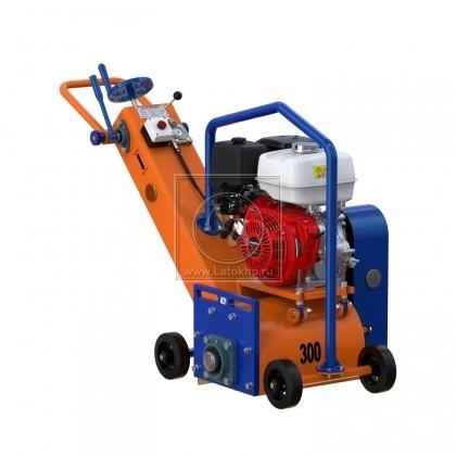 Демаркировочная машина для снятия асфальта, дорожной разметки и бетонного покрытия, с электростартером (с барабаном) LATOKHO DM 300 GE (Россия)