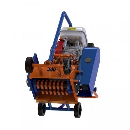 Демаркировочная машина для снятия асфальта, дорожной разметки и бетонного покрытия (с барабаном) LATOKHO DM 300 G (Россия)