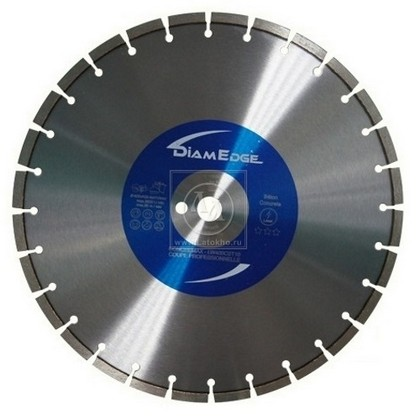 Алмазный диск по бетону диаметром 350 мм DiamEdge COLG - 350 (Франция)