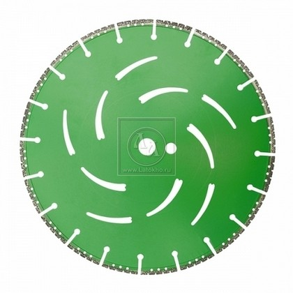 Алмазный диск по бетону, горным породам, дереву, стали, ПВХ, чугуну, полимерам, бронированному стеклу диаметром 350 мм DR.SCHULZE All Cut 350 (Германия)