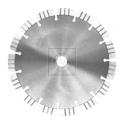 Алмазный диск по армированному бетону, граниту, строительным материалам, сегмент 15 мм DR.SCHULZE Laser 15 350 (Германия)