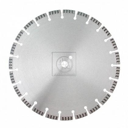 Алмазный диск по армированному бетону, граниту, строительным материалам диаметром 350 мм DR.SCHULZE Laser Turbo U 350 (Германия)