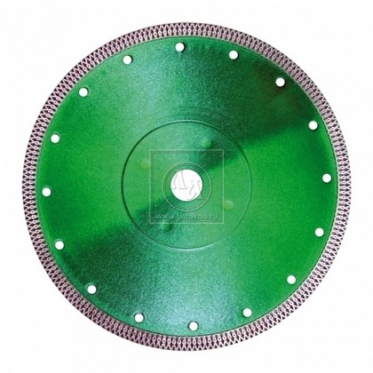 Алмазный диск по твердой керамике, кафелю, граниту, мрамору, керамограниту диаметром 125 мм DR.SCHULZE ULTRA СERAM 125 (Германия)
