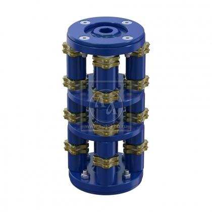 Фрезеровальный барабан (фреза) с пятигранными ножами для нанесения насечек 15 мм с шагом 40 мм LATOKHO DSCN 200 15/40 (Россия)