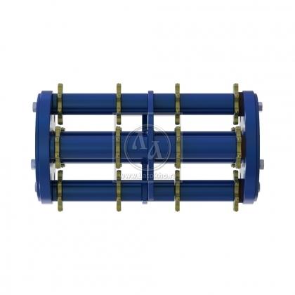 Фрезеровальный барабан (фреза) с восьмигранными ножами для нанесения насечек 8 мм с шагом 100 мм LATOKHO DSCN 350 8/100 (Россия)