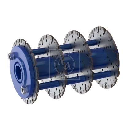 Фрезеровальный барабан (фреза) с алмазными дисками для нанесения насечек 5 мм с шагом 80 мм LATOKHO DDDN 250 5/80 (Россия)