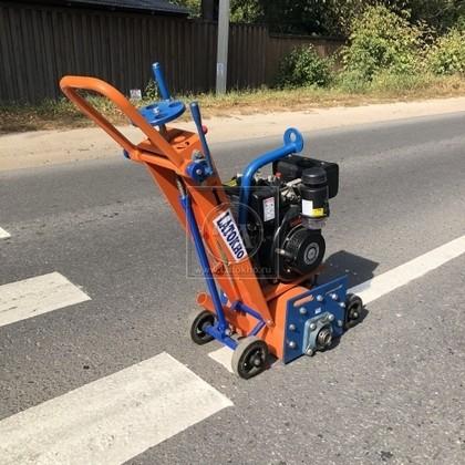 Демаркировочная машина для снятия асфальта, дорожной разметки и бетонного покрытия (с барабаном) LATOKHO DM 250 D (Россия)
