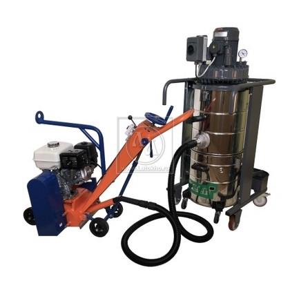 Демаркировочная машина для снятия асфальта, дорожной разметки и бетонного покрытия (с барабаном) LATOKHO DM 200 G (Россия)