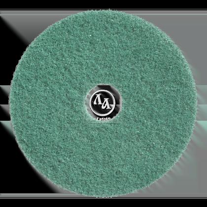 Тонкий пад синтетический зеленый диаметром 406 мм для чистки полов, проставка под вольфрам, сетку  JANSER Pad GREEN (Германия)