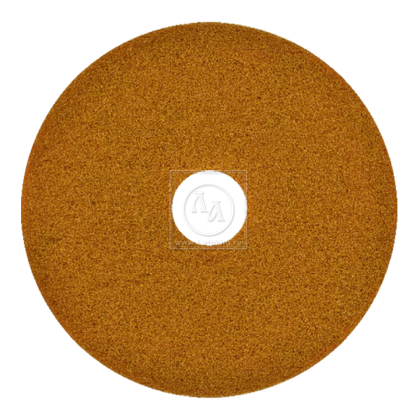 Тонкий пад синтетический коричневый диаметром 406 мм для чистки полов, проставка под вольфрам, сетку JANSER Pad BROWN (Германия)