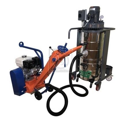 Фрезеровальная машина для обработки бетонных полов и удаления полимеров, с электростартером (с барабаном) LATOKHO RM 250 GE (Россия)