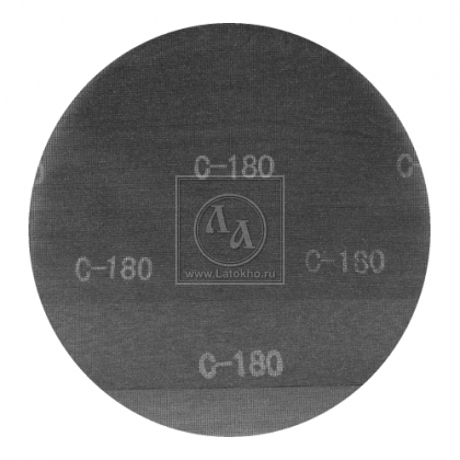 Шлифовальная сетка Ø 375 мм с алмазным напылением, двусторонняя JANSER Grid P-180 (Германия)