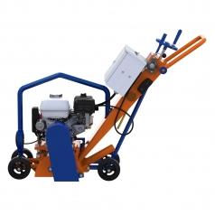 Демаркировочная машина для снятия асфальта, дорожной разметки и бетонного покрытия, с электростартером (с барабаном)LATOKHO DM 200 GE (Россия)