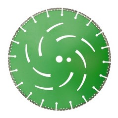 Алмазный диск по бетону, горным породам, дереву, стали, ПВХ, чугуну, полимерам, бронированному стеклу диаметром 350 ммDR.SCHULZE All Cut 350 (Германия)