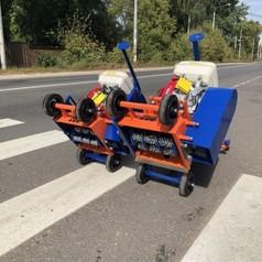 Демаркировочная машина для снятия асфальта, дорожной разметки и бетонного покрытия, с электростартером (с барабаном)LATOKHO DM 250 GE (Россия)