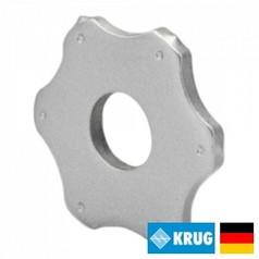 Шестигранный (гексагональный) нож на фрезеровальные барабаны 250 ммKRUG 6-pt. Star cutter (Германия)